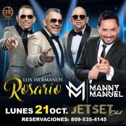 Merengueros Manny Manuel y Los Rosario se presentarán en Jet Set
