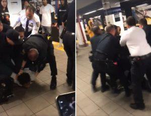 Pelea entre agentes policía y jóvenes se vuelve viral