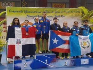 Infantiles ganan cinco medallas Latinoamericano tenis de mesa