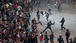 Independentistas colapsan Barcelona con protestas en apoyo a sus líderes