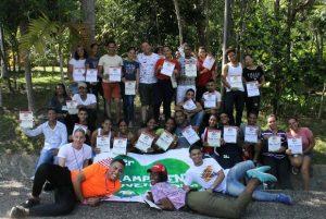 Decenas de jóvenes participan en 1er Campamento Juventudes Licey