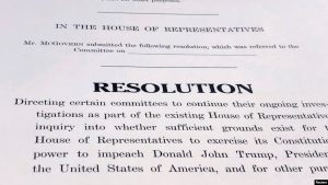 EEUU: Demócratas presentan resolución sobre juicio político a Trump