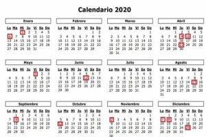 Ministerio de Trabajo informa feriados para el año 2020