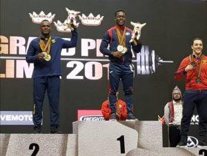 Zacaríaz Bonnat gana tres medallas en el Grand Prix de Pesas