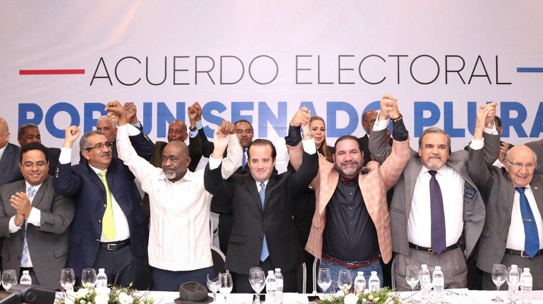 Partidos oposición Rep. Dominicana se alían a nivel senatorial en 24 provincias