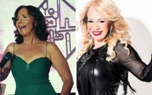 Adalgisa Pantaleón y Miriam Cruz en concierto para celebrar el merengue
