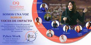 Invitan a participar el sábado 9 en evento Voces de Impacto