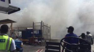 Incendio consume área aerolínea en aeropuerto Puerto Príncipe