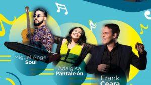 Frank Ceara, Adalgisa Pantaleón y Miguel Ángel Soul en concierto