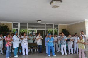 Enfermeros boicotean actividad del Ministerio Salud para exigir mejoras
