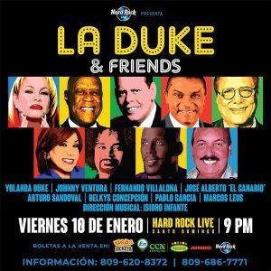 """""""La Duke and Friends"""" se presentará en Hard Rock el 10 de enero"""