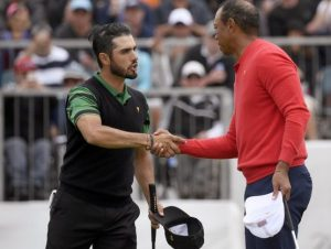 Tiger Woods da a Estados Unidos la Copa Presidentes de golf