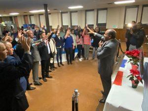 Sector Externo Luis Abinader juramenta comité en Nueva Jersey