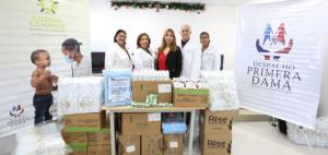 Despacho Primera Damaaporta medicamentos aMaternidad San Lorenzo de LosMinas