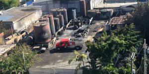 SDO: Sigue hospitalizado uno herido en incendio depósito combustible