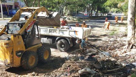"""MOPC y Ejército retiran 80 toneladas basura operativo """"Diciembre Limpio"""""""