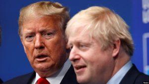 LONDRES: Trump invita Boris Johnson a visitarlo en el 2020