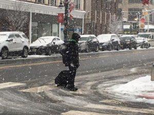 Nieve y lluvia helada llegarían a ciudad de Nueva York este lunes