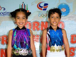 Lantigua y Peralta se destacan torneo de gimnasia en Santiago