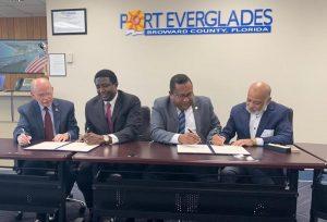 Firman acuerdo entidades portuarias de Florida y la República Dominicana