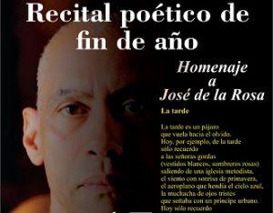 Comisionado de Cultura invita a recital poético de fin de año