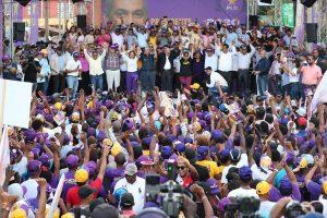 Danilo y Gonzalo encabezan caravana y juramentan los candidatos en SPM