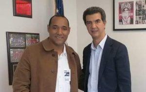 Ydanis Rodríguez recibe en Alcaldía a candidato a sindico San Cristóbal
