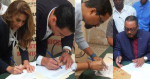 Cuatro candidatos Alcaldía del DN  firman pacto por la transparencia