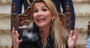 """BOLIVIA: Presidenta califica a Evo una persona """"violenta"""" y """"enloquecida"""""""