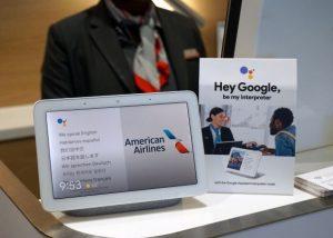 American Airlines prueba el modo interprete de google assistant