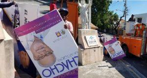 BANI: Alcalde niega haya ordenado retiro vallas candidato del PRM