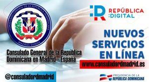 ESPAÑA: Consulado dominicano pone en marcha servicios en línea