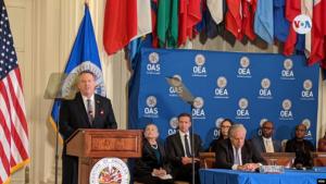 EEUU elogia el rol de la OEA en el continente americano