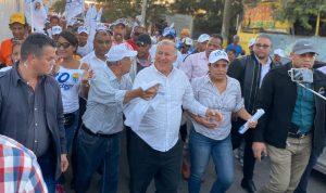 Gran caminata y apoyo moradores zona norte de Santiago a Gilberto Serulle