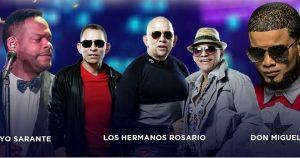 Hermanos Rosario, Yiyo Sarante y Don Miguelo en aniversario de Jet Set
