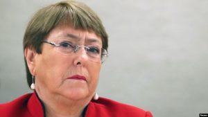 Michelle Bachelet pide aliviar sanciones para combatir el COVID-19