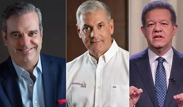 Encuesta: Luis Abinader 52%, Gonzalo Castillo 24% y Leonel Fernández 17%