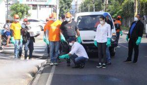 Alcaldía arrecia jornada desinfección en amplias zonas ciudad de Saniago