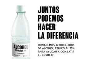 Ron Barceló y CND donan alcohol para ayudar a combatir el COVID-19