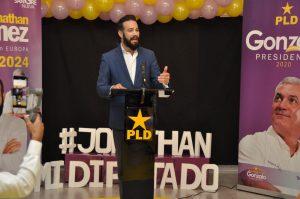 Jonathan Gómez aspira representar comunidad dominicana en Europa