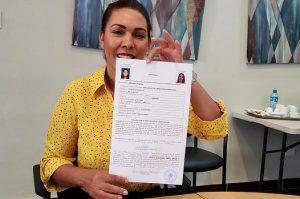 Josefa Mejía inscribe candidatura a diputada por San José de Ocoa