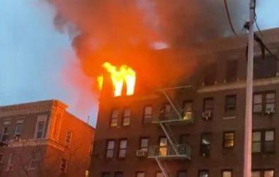Mueren cuatro mujeres en incendio frente hospital Lebanon en El Bronx