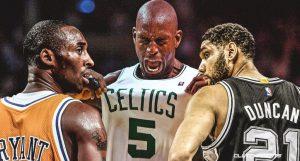 Kobe Bryant, Tim Duncan y Kevin Garnett al Salón de la Fama de la NBA