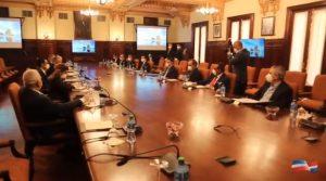 Ministros y empresarios hablan de reapertura de actividades económicas