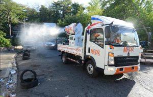 MOPC realiza desinfección masiva en pueblos y ciudades por COVID-19