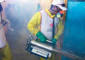Cruz Roja desinfecta y fumiga centros penitenciarios de la provincia SD