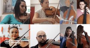 Músicos tocan a la distancia un homenaje a los héroes del coronavirus