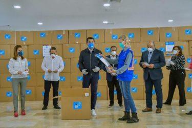 David Collado, PNUD y empresas entregarán 200 mil mascarillas más