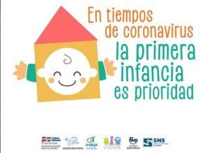 """Lanzan campaña """"En Tiempos de Coronavirus, la Primera Infancia es Prioridad"""""""