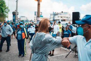 Carolina encabezagran operativo de limpieza en ciudad Santo Domingo